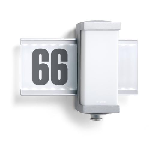 Silver House Number Sign Wall Light L 665 Led
