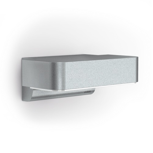 LED Silver Outdoor Sensor Wall Light Garstang Silver (666111)