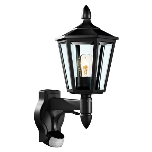 Wall Lamps With Pir : Black Traditional PIR Wall Light L15 The Lighting Superstore