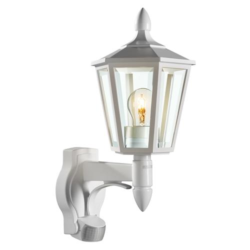 Wall Lamps With Pir : Traditional PIR Wall Light L15 White The Lighting Superstore