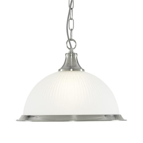 American Diner Satin Silver Single Pendant 1044