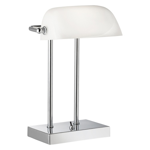 1200CC White Bankers Table Lamp