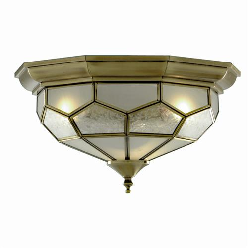 Traditional Glass Flush Ceiling Light 1243-12