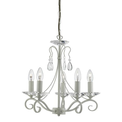 1245-5CR Verona 5 Light Multi Arm Pendant Light