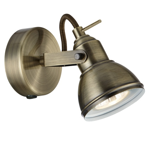 Focus LED Antique Brass Single Directional Spotlight 1541Ab