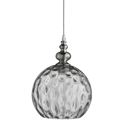 2020CL Indiana Satin Silver Globe Pendant Light