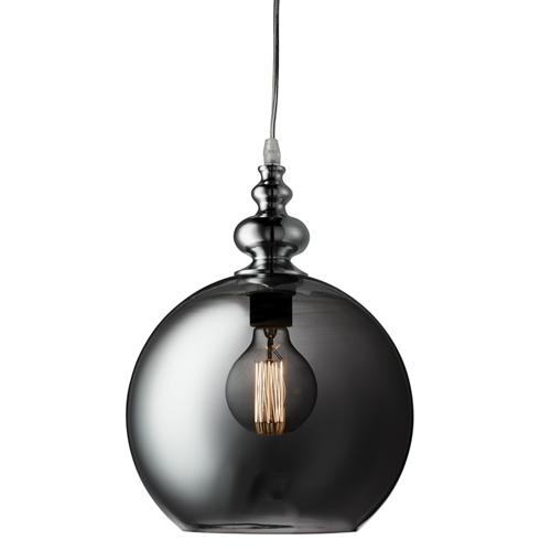 2020SM Indiana Smoked Globe Pendant Light