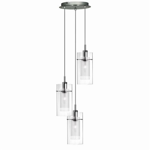 Duo 1 Chrome Pendant Light 2300-3