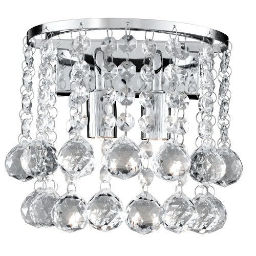 Hanna Crystal Wall Lights : 2402-2CC Hanna Crystal Wall Light The Lighting Superstore