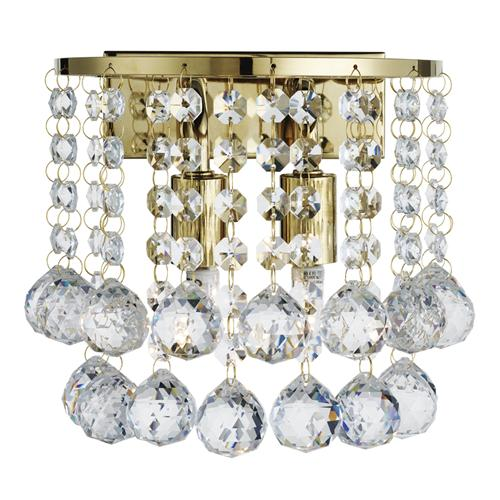 Hanna Gold Crystal Double Wall Light 2402-2Go