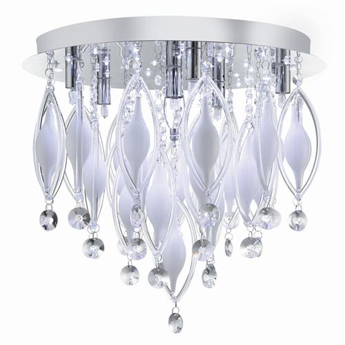 Spindle LED Chrome Ceiling 6 Light 2456-6CC