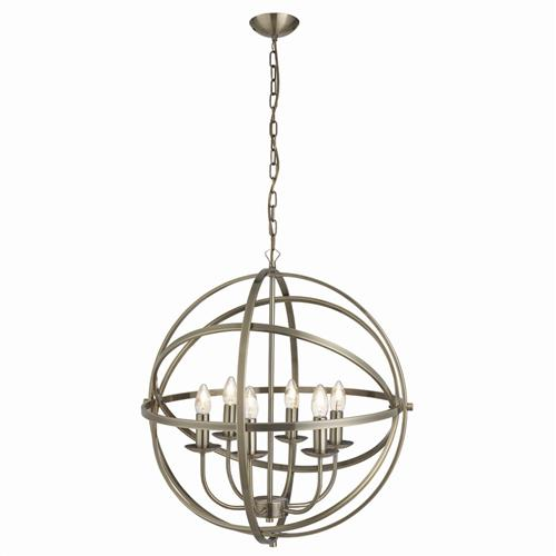 Orbit Antique Brass Pendant Light 2476-6AB