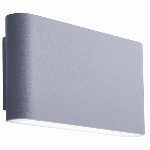 Grey LED Outdoor Wall Light With Frosted Diffuser 2562Gy