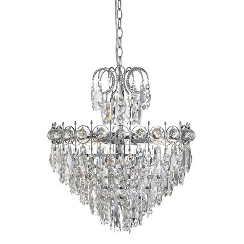 Catherine Chrome Crystal Ceiling Light 2595-5Cc