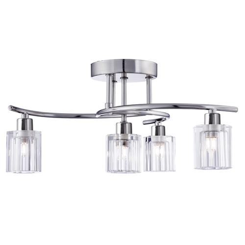 2924-4ss Ice Block Semi Flush Ceiling Light