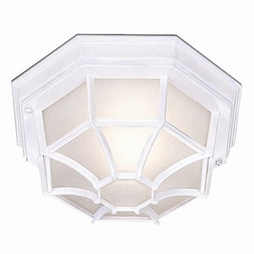 White Octagonal Outdoor Flush Fitting 2942WH