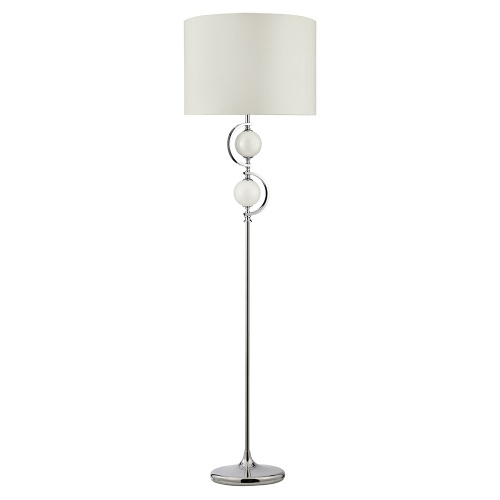 2965WH Polished Chrome Floor Lamp