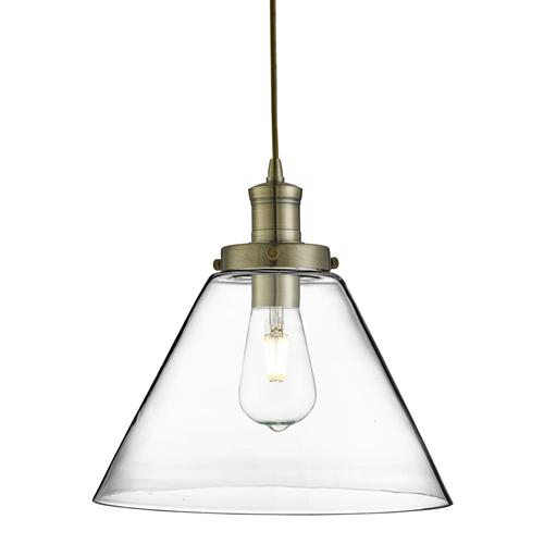 3228AB Pyramid Antique Brass Pendant Light