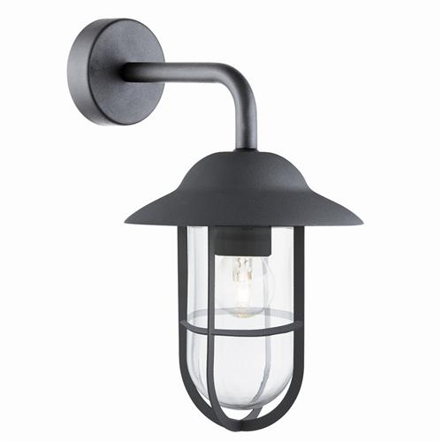 Well Matt Black Outdoor Wall Lantern 3291BK