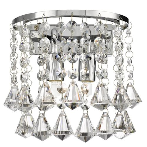 3302-2CC Hanna Crystal Wall Light
