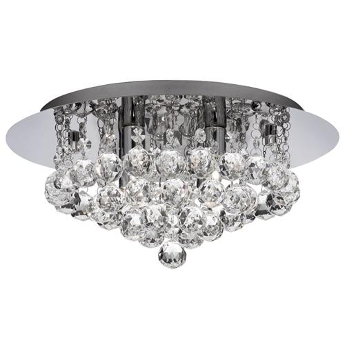 3404-4CC Hanna Crystal Flush Ceiling Light