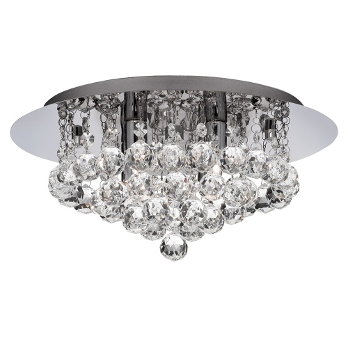 Hanna Crystal Wall Lights : 3404-4CC Hanna Crystal Flush Ceiling Light The Lighting Superstore