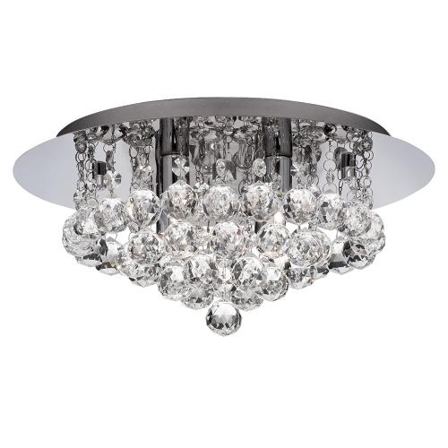 Hanna Crystal Wall Lights : 3404-4CC Hanna Crystal Flush Ceiling Light The Lighting Superstore