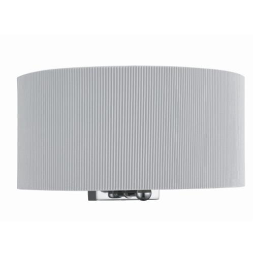 3462-2SI Drum Pleat Silver Wall Light