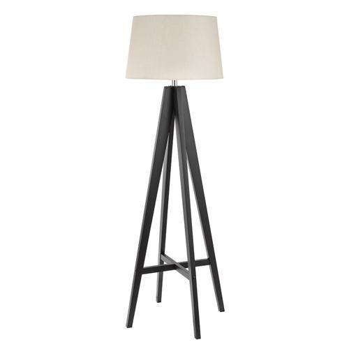 Dark Coloured Wooden Floor Lamp 3540br The Lighting Superstore