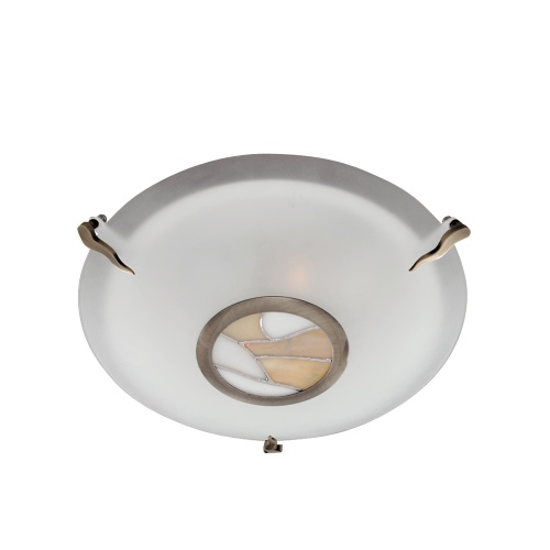 Antique Brass Flush Light 36095Am