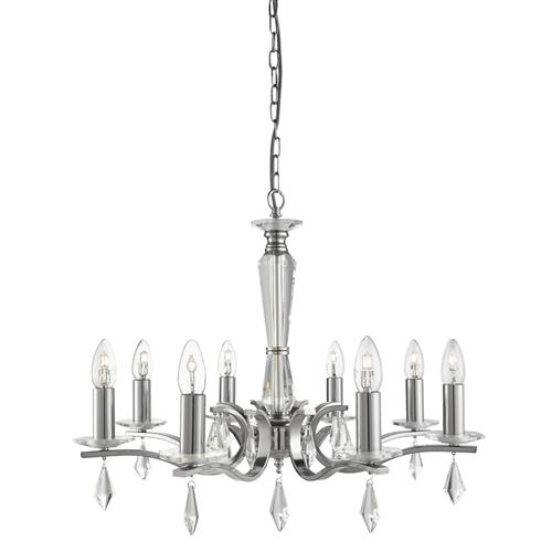 3908-8ss Royale Chrome Multi Arm Pendant Light