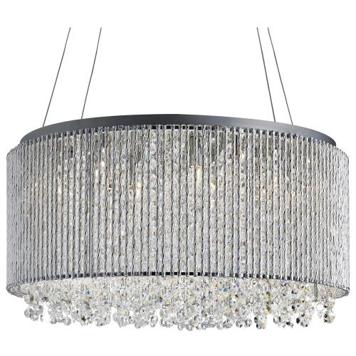 glow crystal lighting by chandelier shade double sheer drum product w duet