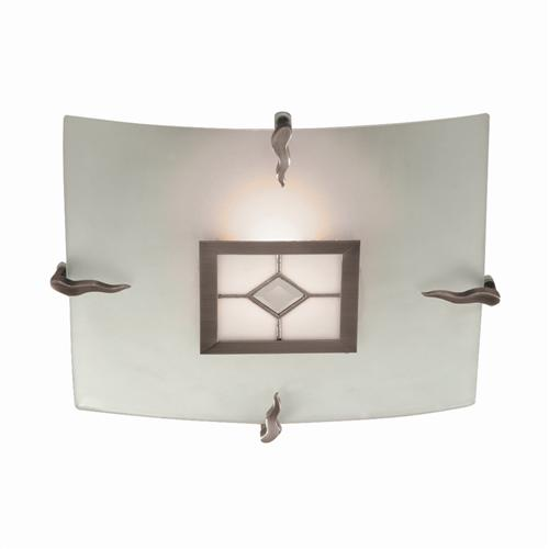 Antique Brass Flush Ceiling Light 4207 30
