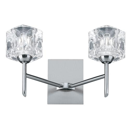 Ice Cube Double Wall Light Satin Silver 4342-2