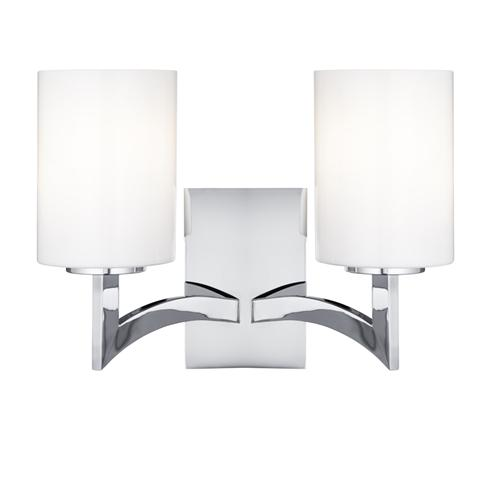 Gina 2 Light Chrome Wall Light 4992-2Cc