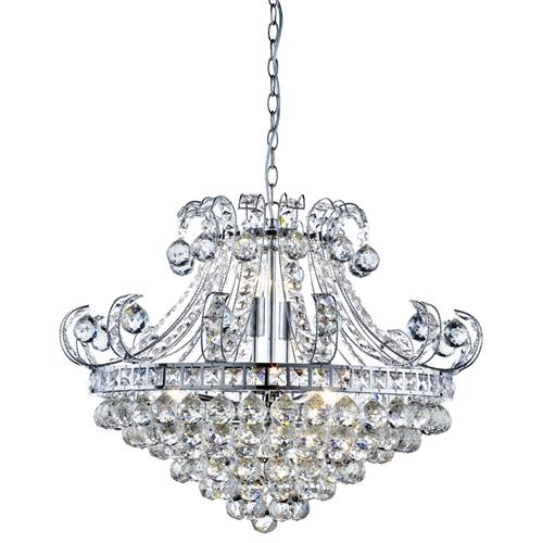 Bloomsbury Crystal Ceiling Light 5046-6Cc