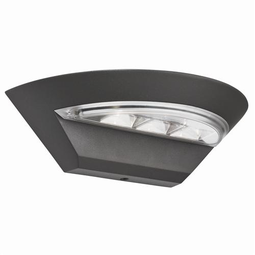 Dark Grey LED Semicircle Outdoor Wall Light 5122Gy