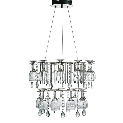 51521cc Vino LED Two Tiered Pendant Ceiling Light