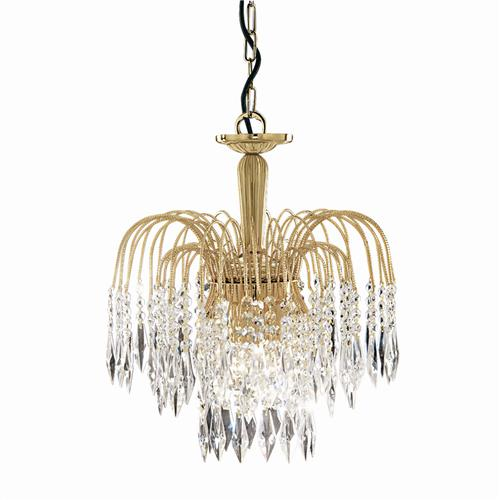 Shower Crystal Ceiling Gold Plated Light 5173-3