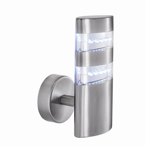 LED Satin Silver Outdoor Wall Light 5308