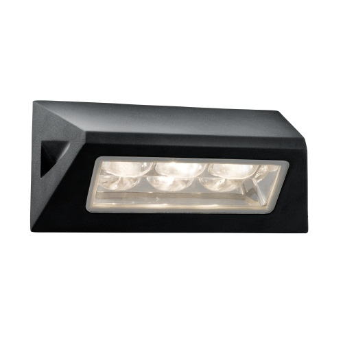5513BK LED Garden Wall Light Black The Lighting Superstore