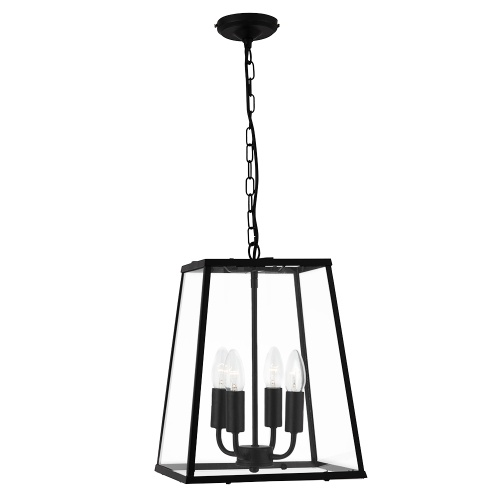Black Lantern Pendant Fitting 5614bk The Lighting Superstore