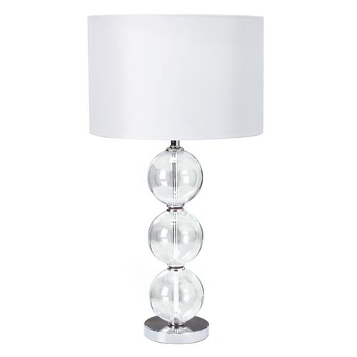 6194CC-1 Single Polished Chrome And Clear Glass Table Lamp