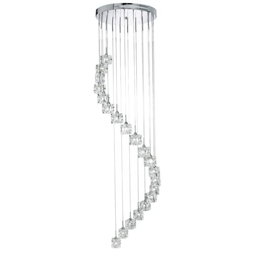 Sculptured Ice Stairwell Ceiling Pendant 6720-20-LED