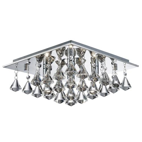 7304-4CC Hanna 4 Light Square Crystal Light