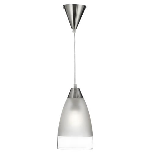 Satin Silver Single Pendant Light 7702