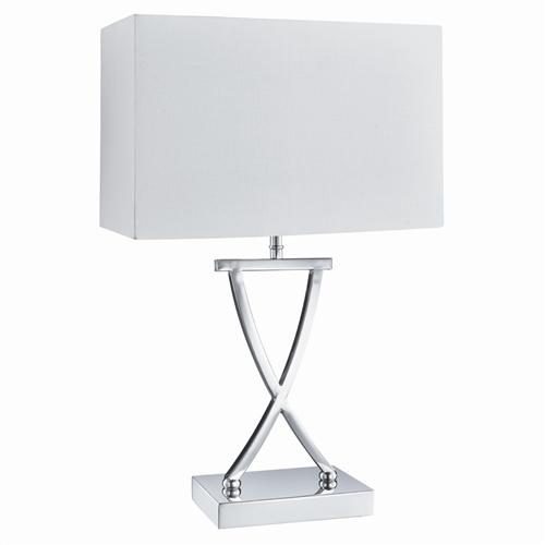 Cross Rectangular Table Lamp The Lighting Superstore