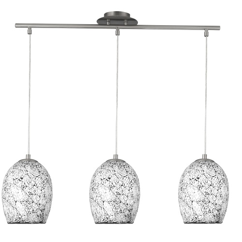 Crackle Pendant Light 8069-3WH