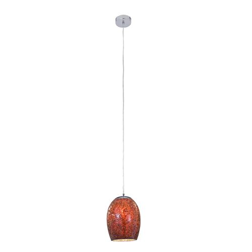 Crackle Red Glass Pendant Light 8069RE