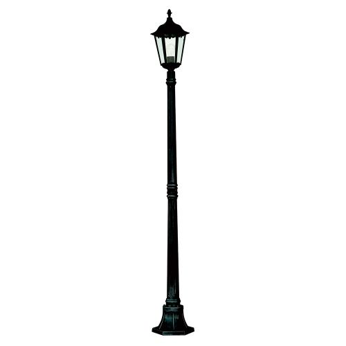 Alex Outdoor Post Light 82508Bk
